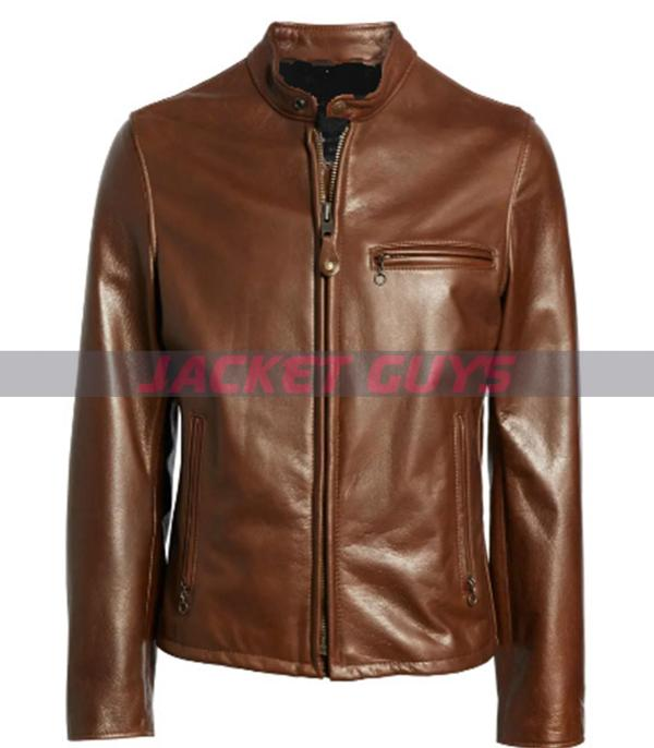 buy now mens brown leather jacket