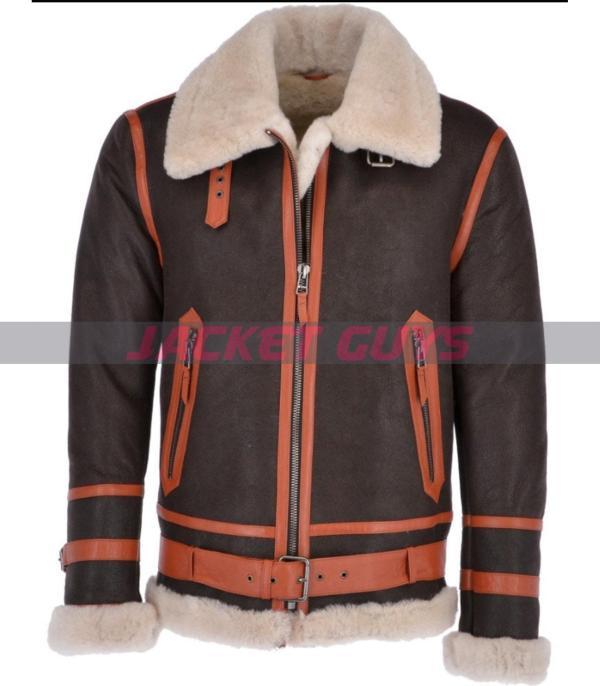 mens black aviator leather jacket on sale