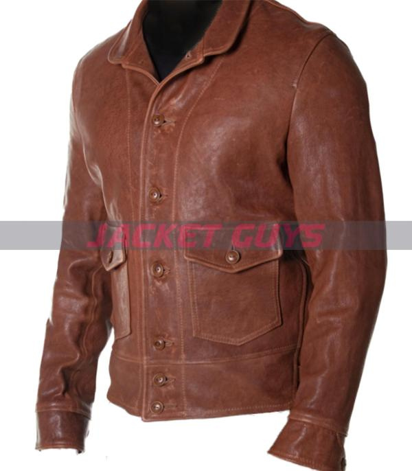 trucker mens leather jacket for sale