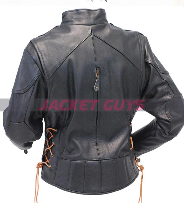 buy now women vented leather jacket