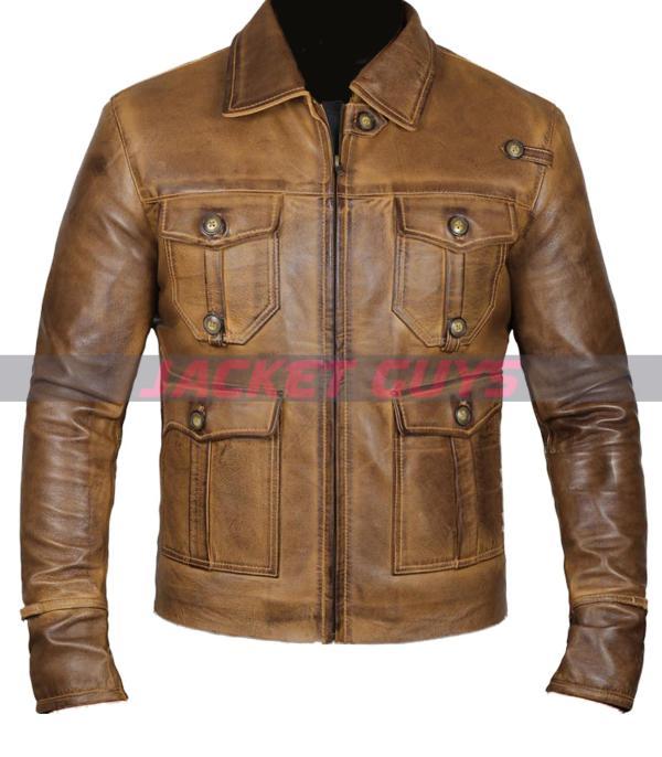 men light brown leather jacket on sale