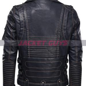 buy now men heavy duty biker leather jacket