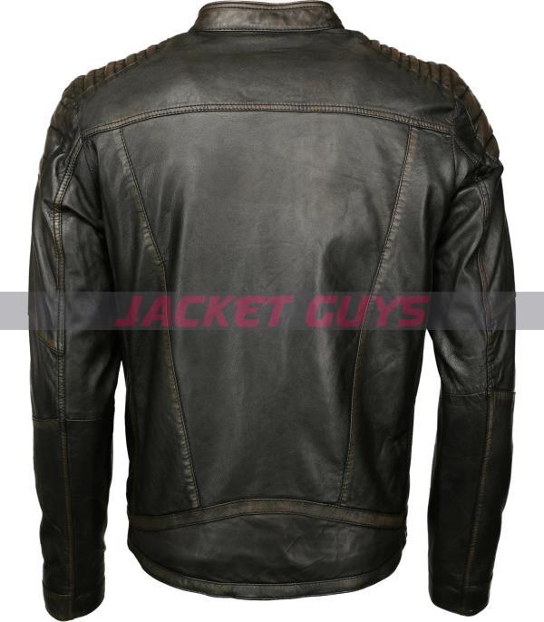 men distress leather jacket shop now