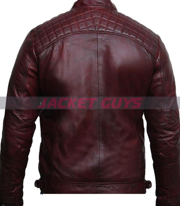 for sale men distress maroon leather jacket