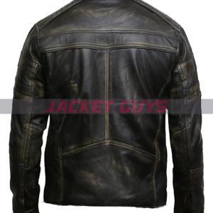 shop now men distress leather jacket