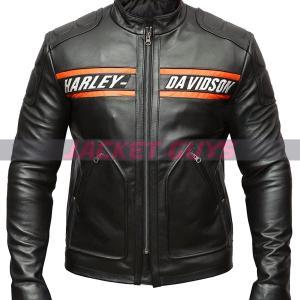 on discount men harley davidson leather jacket