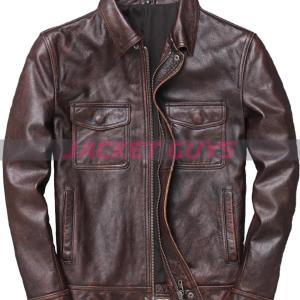 men heavy duty trucker leather jacket on discount