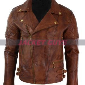 shop now men dark brown leather jacket