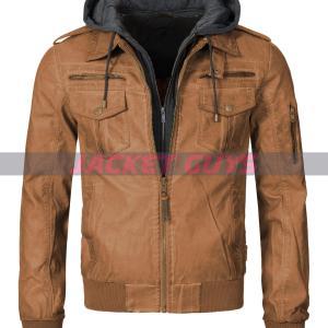 men tan brown hooded jacket shop now