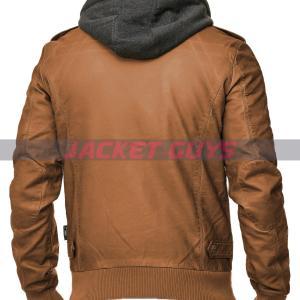 buy now men tan brown hooded jacket