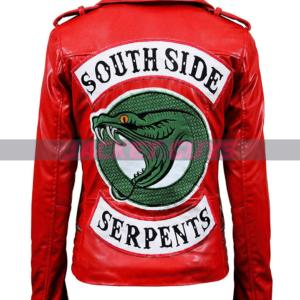 shop now women south side red leather jacket