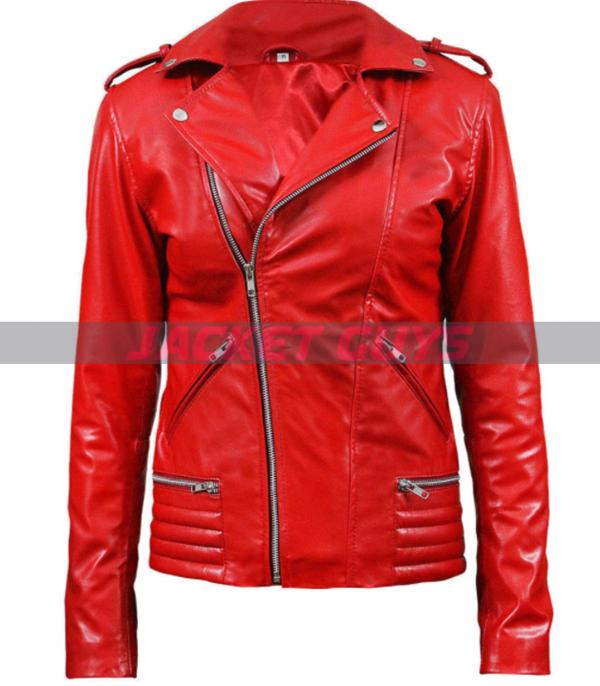 women south side red leather jacket shop now
