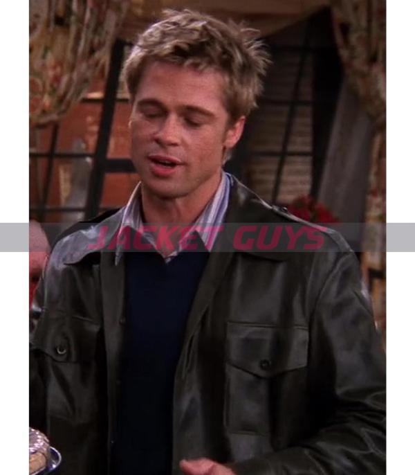 brad pitt friends leather jacket on discount