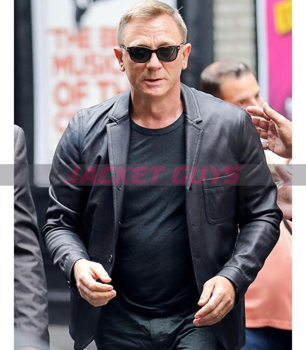 daniel craig black leather blazer get now