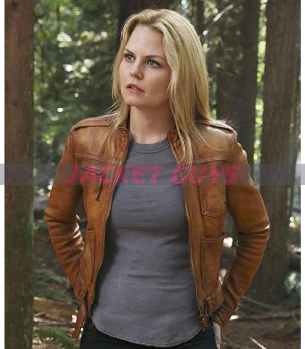 jennifer morrison brown leather jacket on discount