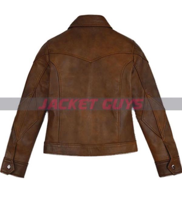 selena gomez brown leather jacket for sale