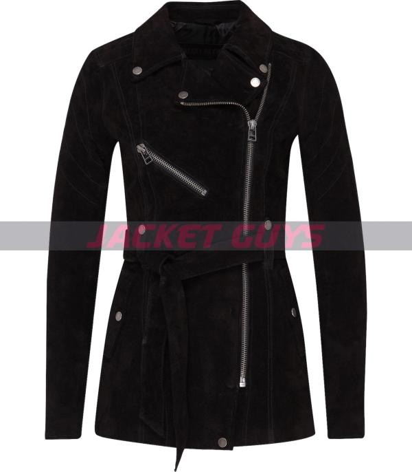 black suede leather jacket for women purchase now
