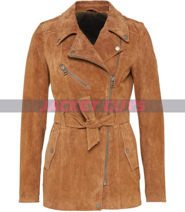 tan brown suede leather jacket for women buy now