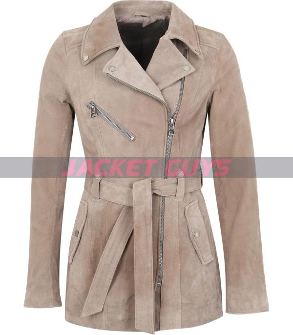 suede leather jacket for women on sale