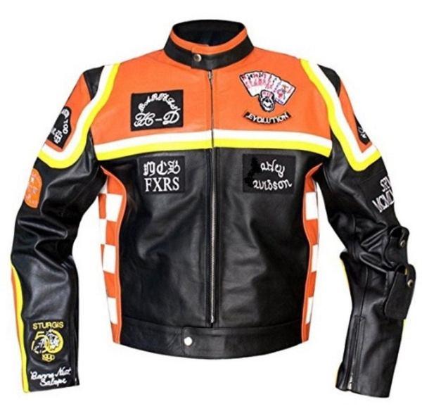 Harley Davidson And Marlboro Man Leather Jacket on sale