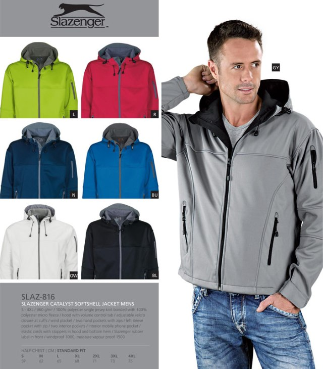 slazenger catalyst softshell jacket