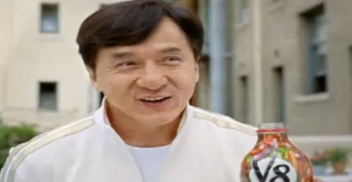 Jackie Chan in the new V8 commercials