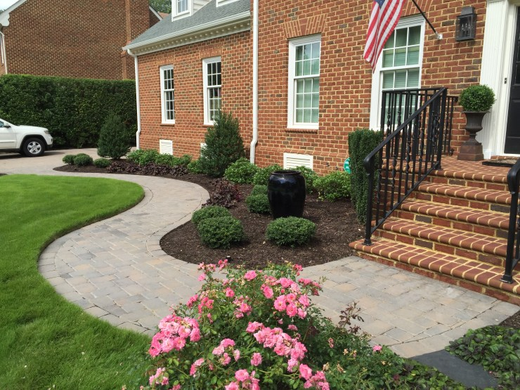 paver sidewalk hardscaping Virginia Beach