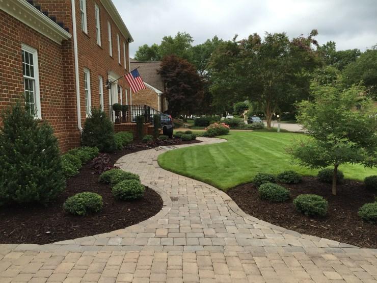 paver walkway- hardscaping