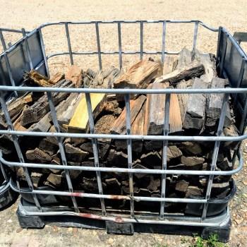 prefilled firewood basket