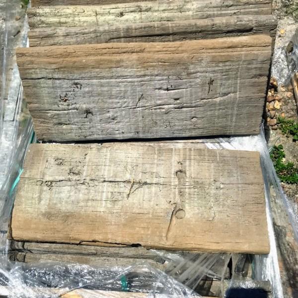 sleeper log stepping stone