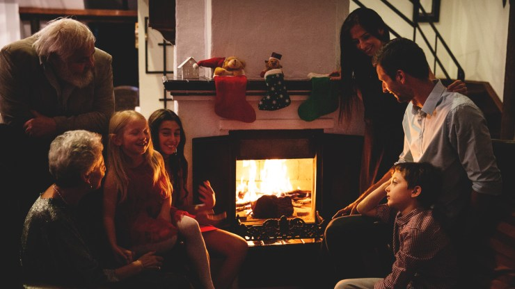 Creating family memories around the fireplace