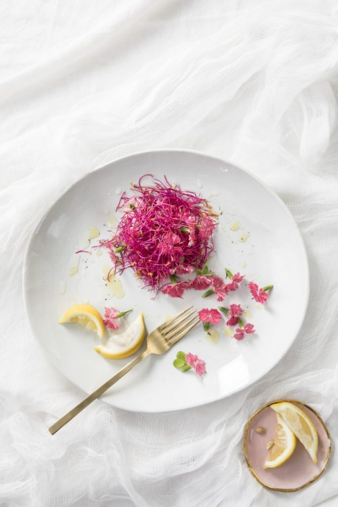Edible Flowers - Dianthus, Beet, and Lemon