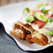 Jackfruit-Enchiladas