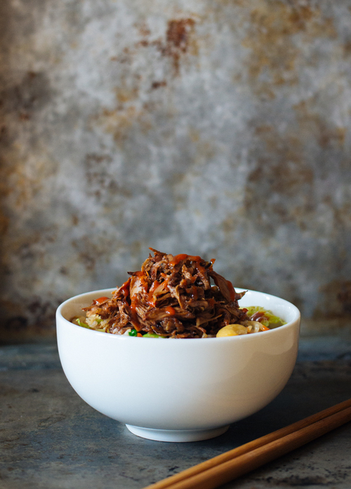 Pulled Hoisin Jackfruit Stir Fried Rice