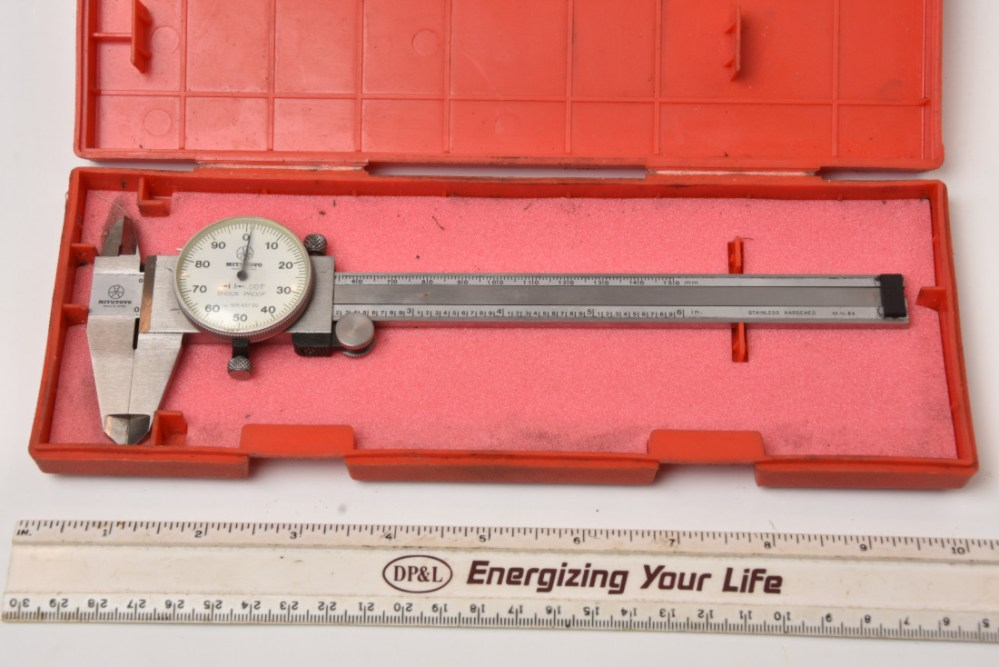 medium resolution of sold mitutoyo 6 dial caliper 001 good working condition 48 00 shipped sold starrett last word indicator