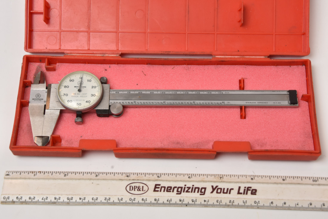 hight resolution of sold mitutoyo 6 dial caliper 001 good working condition 48 00 shipped sold starrett last word indicator