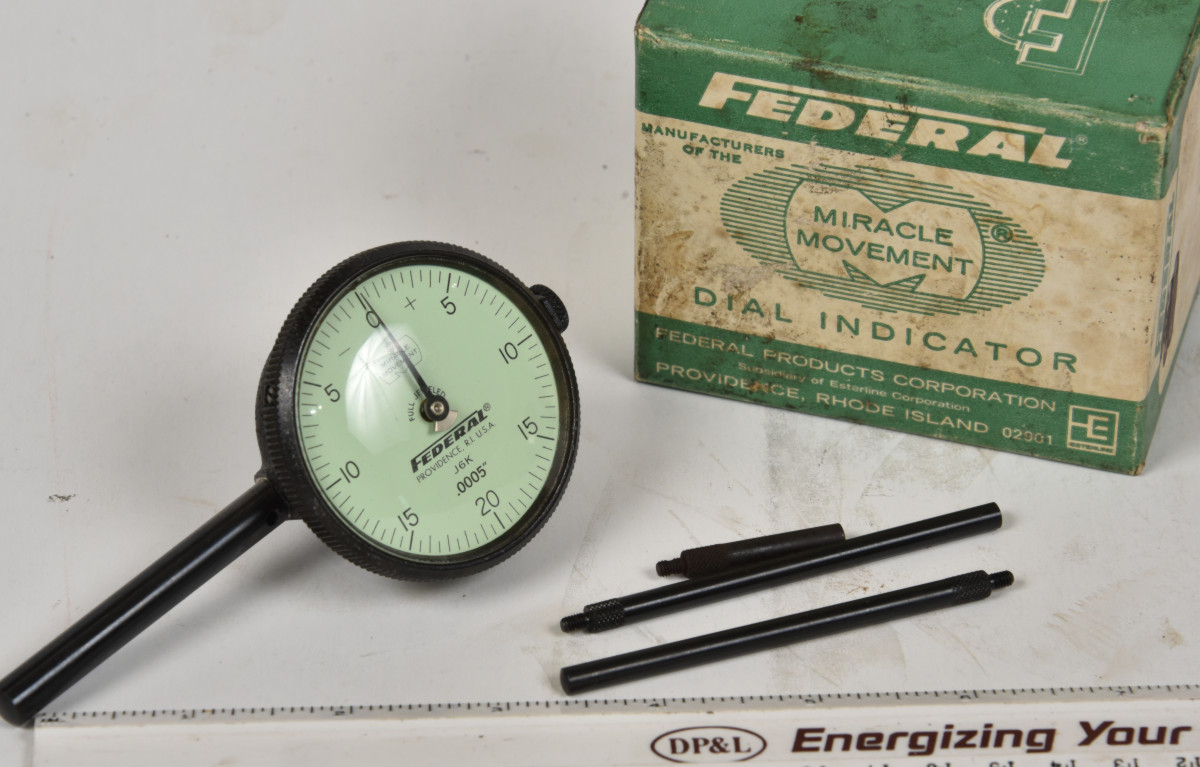 hight resolution of sold federal 0005 rear plunger indicator 2 dial a very handy setup 3 probes included owners name on side but otherwise looks like new in the box