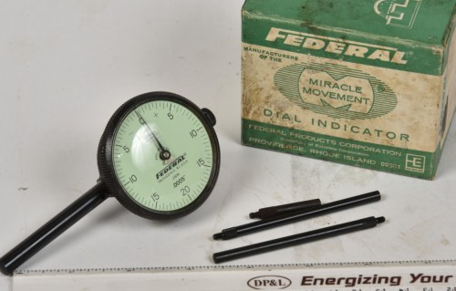 small resolution of sold federal 0005 rear plunger indicator 2 dial a very handy setup 3 probes included owners name on side but otherwise looks like new in the box