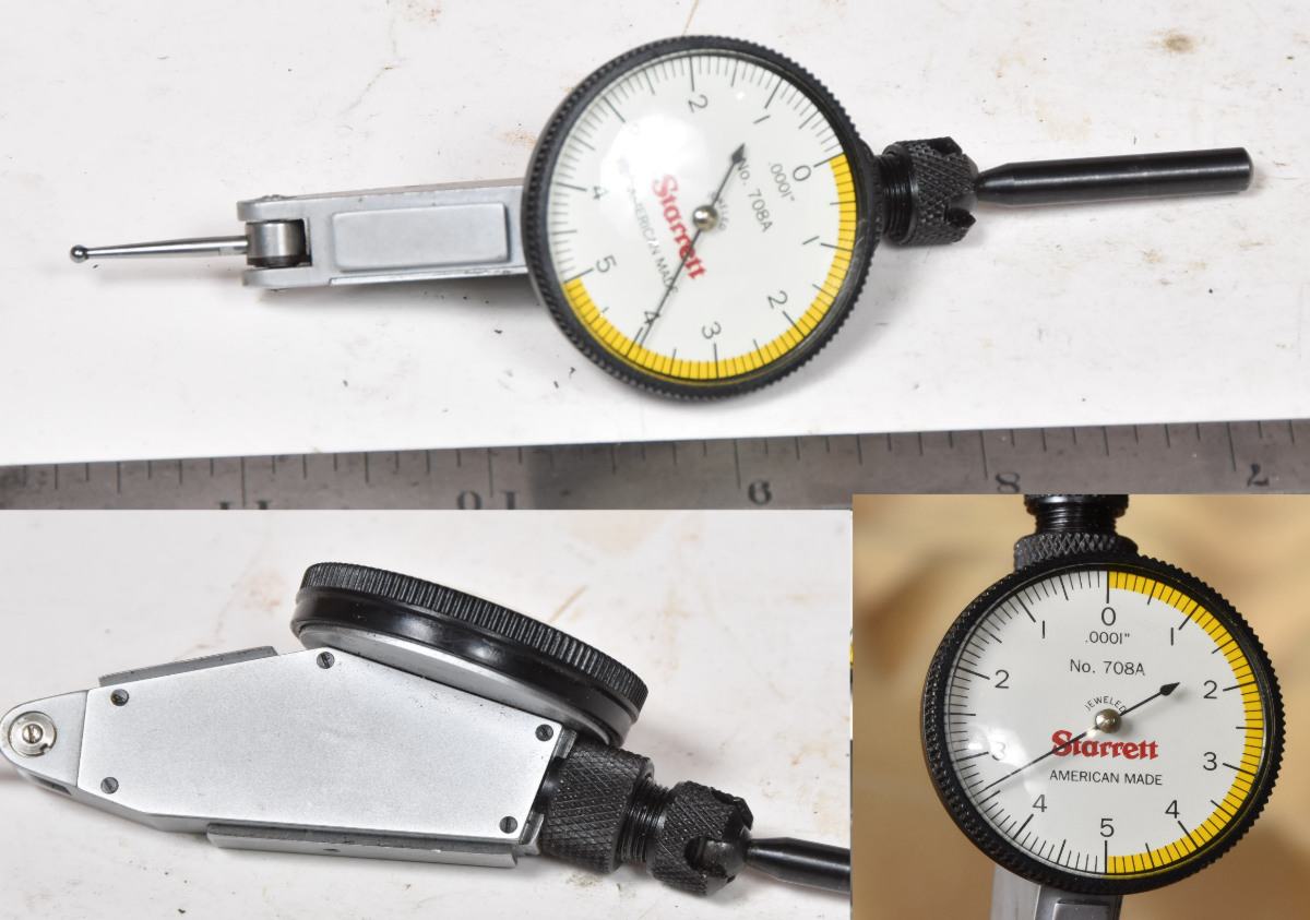 hight resolution of sold starrett 708a 0001 test indicator includes removable mounting stud very nice condition 145 00 over 300 new