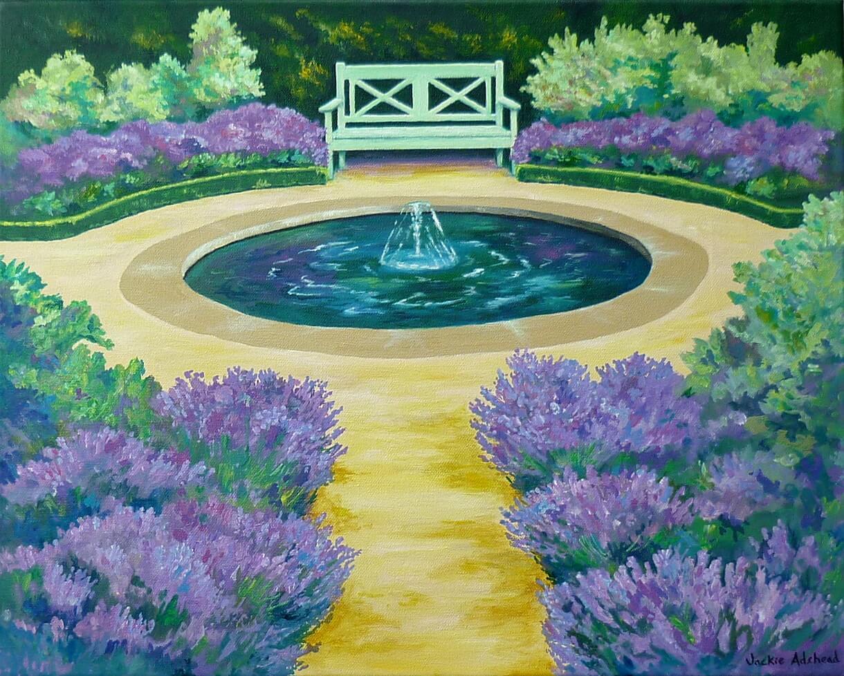 Wonderfully uplifting feedback regarding my Happy Gardens paintings