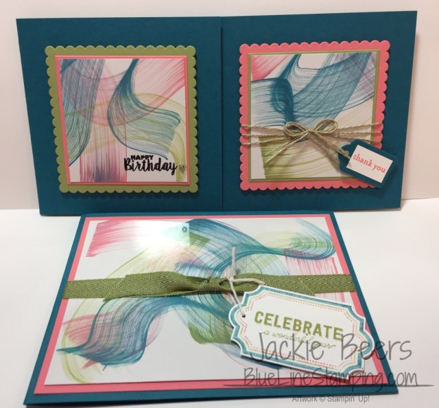 stampin' up! glossy card stock trio, Jackie Beers