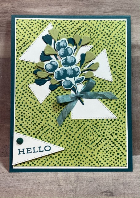 Stampin' Up!, Forever Fern, Stitched Triangles, Forever Greenery, Jackie Beers
