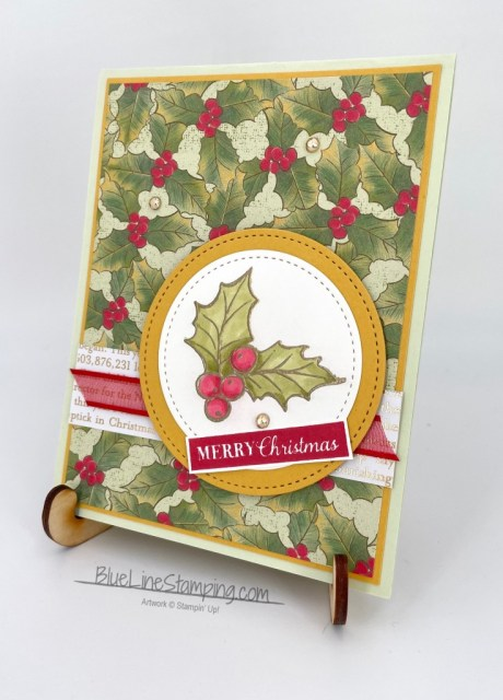 Stampin' Up!, Christmas Gleaming, Poinsettia Place, Stitched Shapes, Jackie Beers