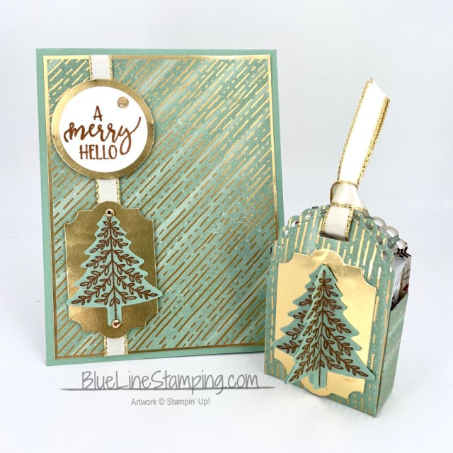 Stampin' Up!, LIttle Treat, Gilded Autumn, Merry Hello, Plaid Tidings, Jackie Beers