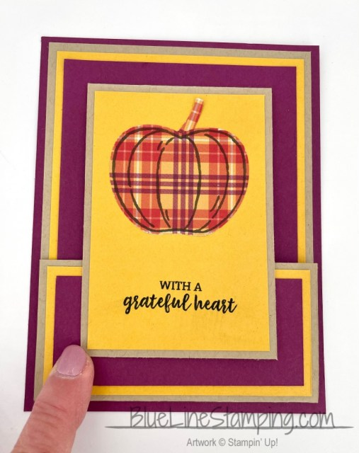 Stampin' Up!, Banner Year, Plaid Tidings, Itty Bitty Greetings, Harvest Hello, Jackie Beers