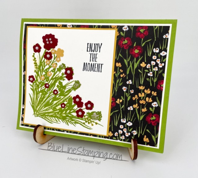 Stampin' Up!, Enjoy The Moment, Flowers and Field Designer Series Paper, Corner Bouquet