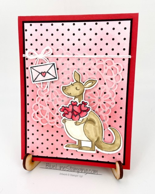 Stampin' Up!, kangaroo and company, True Love, Blending Brushes, Jackie Beers