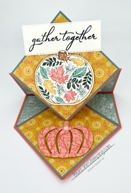Stampin' Up!, Pretty Pumpkin Bundle, Harvest Meadow, Stitched Rectangles, Jackie Beers
