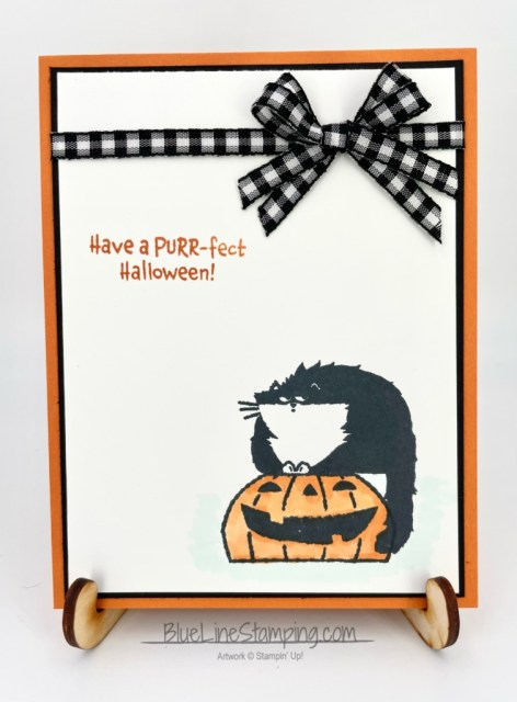 Stampin' Up!, Clever Cat, Black & white gingham, Jackie Beers