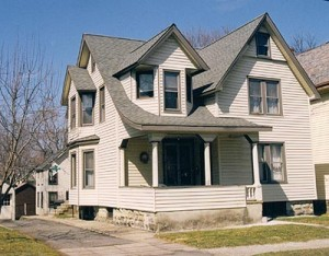 Vinyl-Sided Victorian House